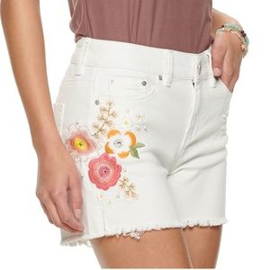 White Embroidered Shorts NWT